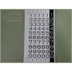 G-517 - Odometer numbers (tape)