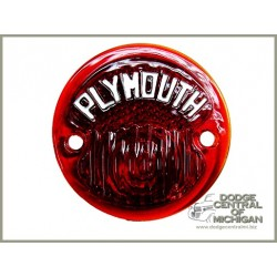 LE-106 - Tail light lens w/Plymouth script