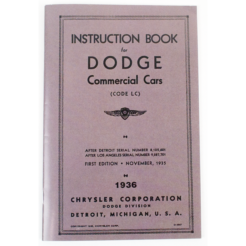 L-383-36 Owners Manual (1936 )