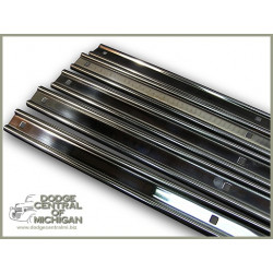 "BP-232-76 Bed Strips (7) polished Stainless steel  76"" 53-80"